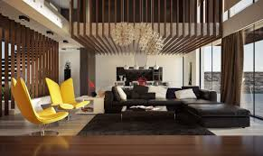Living Rooms With Dark Brown Sofas Living Room Yellow Sectional Sofa Gray Tile Flooring Brown