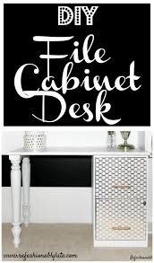Diy Desk With File Cabinets by Diy File Cabinet Desk File Cabinet Desk Diy File Cabinet And Desks