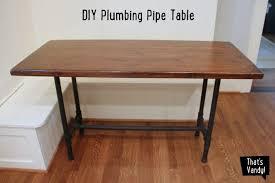 Pipe Desk Diy Diy Plumbing Pipe Table That S Vandy