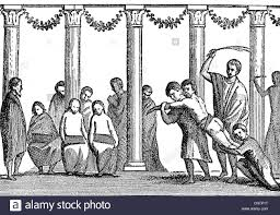 ancient world roman empire people slaves public flogging of a