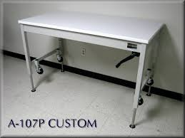 stainless steel table legs adjustable rdm stainless steel adjustable height table model a107p ss