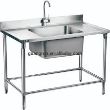 double bowl hotel used free standing commercial stainless steel