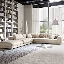 Modern Contemporary Leather Sofas Minerale Corner Sofa With Footstool Corner Contemporary And Leather