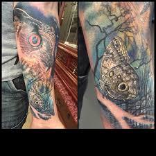 mystic eye tattoos nature owl buho y mariposa