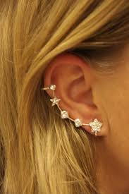 ear cuffs for pierced ears silver color ear cuff