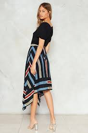 high waisted skirt you re stripe high waisted skirt shop clothes at gal