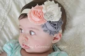toddler headbands items similar to baby headband grey and ivory headband