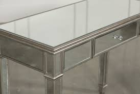 Hayworth Mirrored Chest Silver by Hayworth Mirrored Vanity Desk Living Spaces