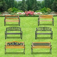Patio Chairs Uk Ikayaa Outdoor Garden Patio Bench Furniture Porch Backyard Lawn