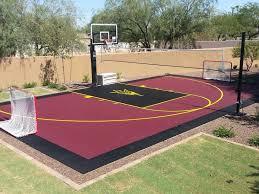 28 u0027 x 46 u0027 hoops court backyard sport court pinterest
