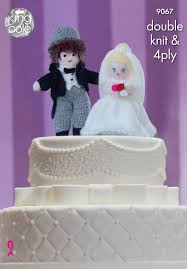 and groom wedding cake toppers king cole 9067 knitting pattern and groom wedding cake