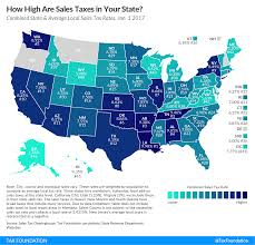 Map Of The Southern States Of America by State And Local Sales Tax Rates In 2017 Tax Foundation
