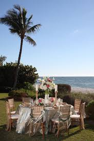wedding reception ideas table decorations gold beach wedding