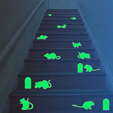 glow in the dark bedroom amaonm removable vinyl glow in the dark christmas wall stickers
