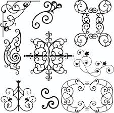 wrough iron ornaments stock vector image of background 3739605