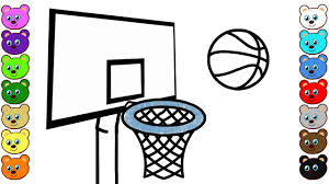 learn colors for kids with basketball game u0026 ball coloring pages