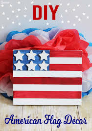How To Paint American Flag Flag Craft Painted Wood American Flag Decor Darice
