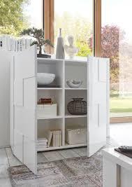 Wohnzimmerschrank Bei Ebay Lc Classico Highboard Schrank Kommode Anrichte Dama In Weiß Echt
