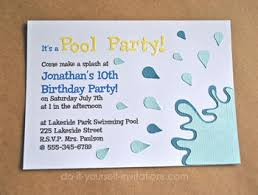 how to make invitations make pool party invitations diy and printable template