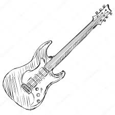 vector sketch electric guitar u2014 stock vector nikiteev 42907175