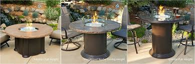 Bar Height Fire Table Colonial Fire Pit Table With Round Top