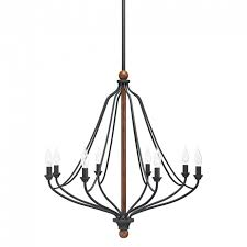 Kichler Lighting Chandeliers Chandelier Kichler Lighting Carlotta 8 Light Distressed Black