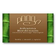Massage Therapy Business Cards 16 Best Massage Therapist Business Cards Images On Pinterest