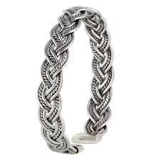 silver woven bracelet images Silver plait cuff bracelet vy jewelry jpg