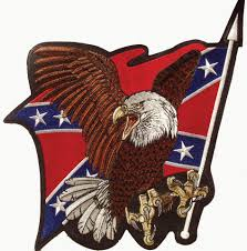 Bald Eagle On Flag Wrights Confederate Wholesale Patches