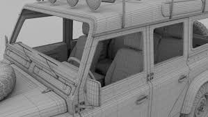 land rover 110 interior land rover defender 110 station wagon w interior 3d model in suv