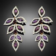 purple earrings 2018 new purple earrings for women party and wedding dresses