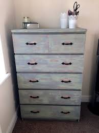 Malm Dresser Hack by Ikea Malm 6 Drawer Unit Refurbished And Distressed Commode
