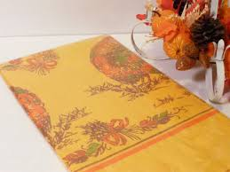 thanksgiving tablecloth new in package vintage deadstock