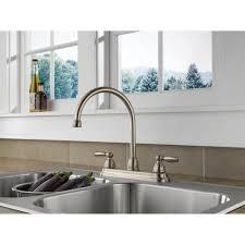 delta bronze kitchen faucets delta bridge style kitchen faucet