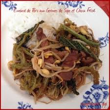 cuisiner le chou frisé emincé de porc aux germes de soja et chou frisé recette iterroir