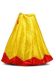 silk skirt dupion silk skirt in yellow and