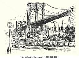 new york city skyline handdrawn vector stock vector 585854324