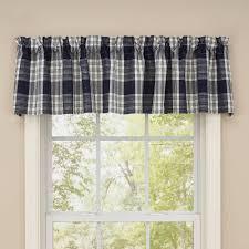 Navy Blue Plaid Curtains Valance Plaid Valances Window Treatments Window