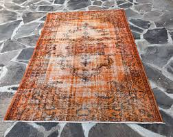 orange runner rugs etsy