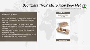 Petmate Indigo Dog House Xl Dog Extra Thick Micro Fiber Door Mat Youtube