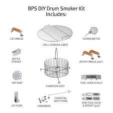 diy bbq drum smoker kit big poppa smokers
