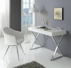 white high gloss desk zeta modern study desk white high gloss top chromed x style legs