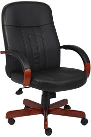 Modern Wood Desk Chair Articles With Brown Leather And Wood Desk Chair Tag Wood And