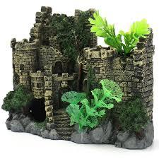 resin large magical castle aquarium decor ornaments fish tank