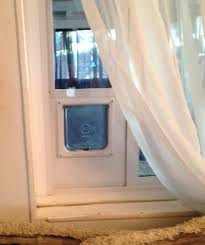 temporary cat door 4 steps with pictures