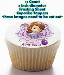 12 count sofia princess edible image frosting sheet
