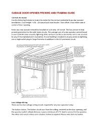 standard garage size garage door amadorgaragedoors garage door framing guide