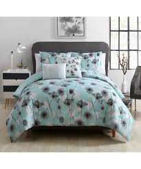 Poppy Bedding Vcny Home Aqua Poppy Floral Five Piece Comforter Set Zulily
