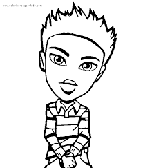 bratz boyz coloring pages kids 4353 boy bratz coloring pages