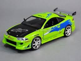 mitsubishi eclipse fast and furious 1 24 diecast 1995 mitsubishi eclipse fast furious model car green